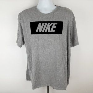 The Nike Tee Men's T-shirt Size 2XL Gray Athletic